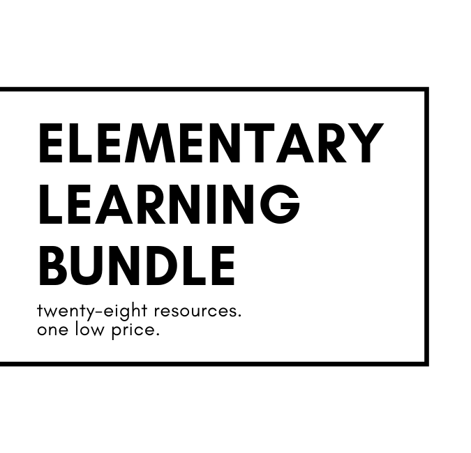 Elementary Learning Bundle - Over $250 in elementary learning products for just $25!